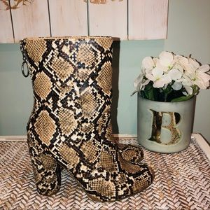 Just Fabulous Snake Skin Boots